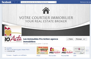 Facebook Page for Les Immeubles Pro-Action inc.